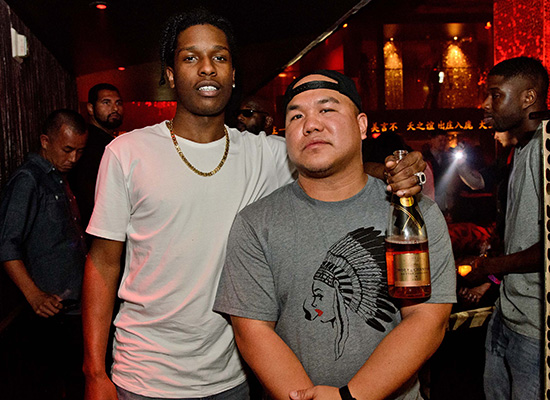 A$AP-Rocky-and-DJ-Five-at-TAO-Nightclub