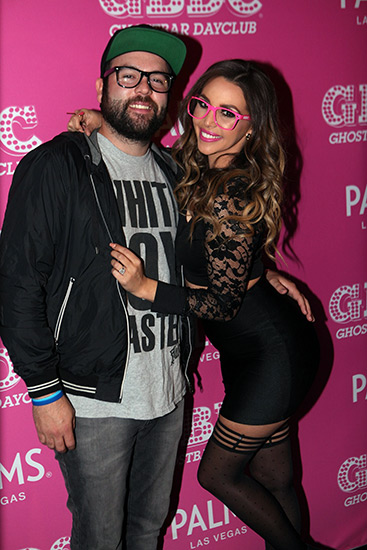 Scheana-Marie-and-husband-Mike-Shay-arrive-to-Ghostbar-Dayclub-at-Palms