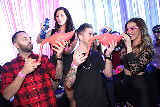Scheana-Marie-helps-friends-prepare-for-flabongo-race-at-Ghostbar-Dayclub