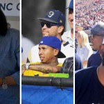 Tyga, Chloe Moretz, CP3 at the LA Rams Game